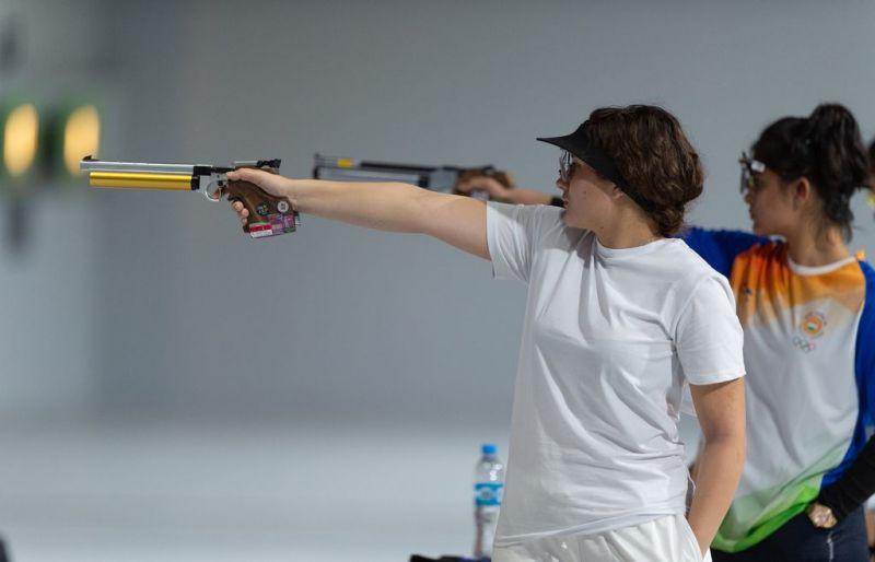 Bronze medalist Nino Khutsiberidze from Georgia in white (Image Courtesy: IOC)