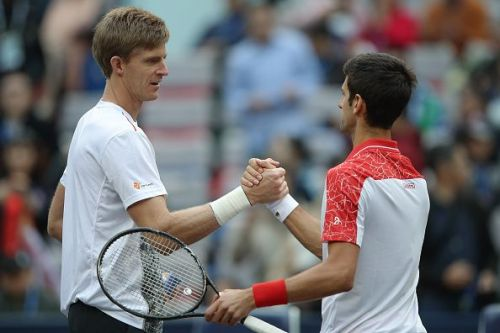 Djokovic faced stiff competition from Anderson in the first set of the quarterfinal
