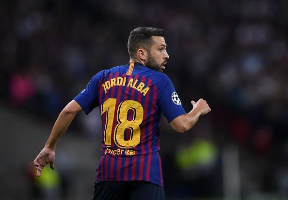 Jordi Alba has been linked with Manchester United