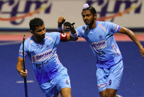 The Indian Junior men's hockey team recorded its fourth successive victory at the Sultan of Johor Cup with a 5-4 win over defending champions Australia, assuring a semifinal spot