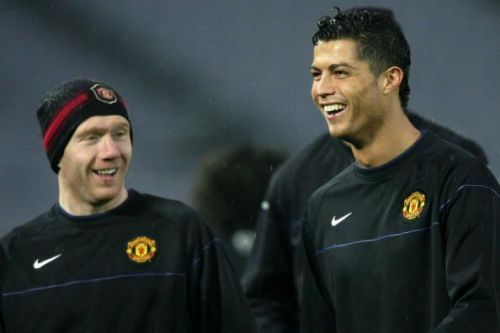 Ronaldo with Scholes