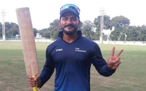 Karanveer Kaushal of Uttarakhand scored the season's first one-day double century.