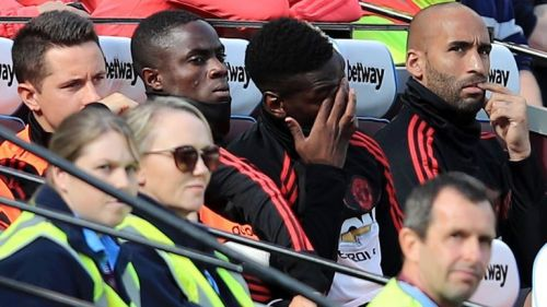 Eric Bailly saw his place at center back taken away by midfielder, McTominay on the bench against West Ham