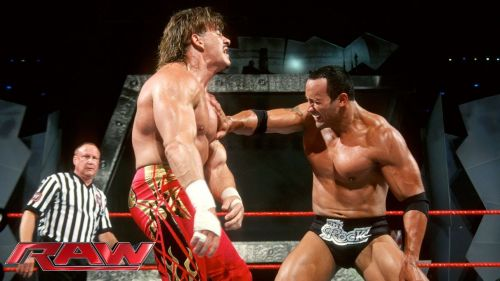 The Rock and Eddie Guerrero squared off on Raw