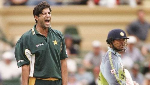 Wasim Akram bowled five wides in the match