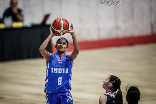 Dharshini Thirunavukkarasu of India achieved a double-double with 15 points and 10 steals (Image Courtesy: FIBA)