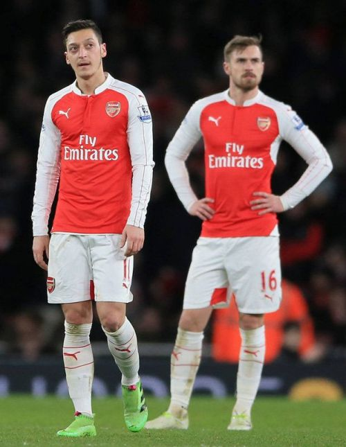 Image result for aaron ramsey and mesut ozil