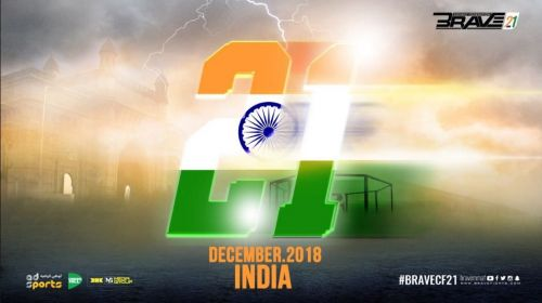Enter caption India to host Brave Combat Federation for the second time in December 2018