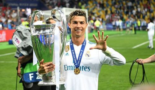 Ronaldo has won the Champions League with Manchester United and Real Madrid