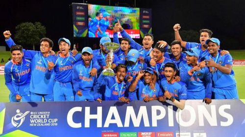 The Indian team after winning the Under 19 World Cup 2018