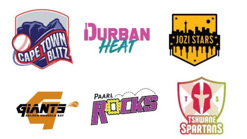 The six teams competing in the Mzansi Super League in South Africa