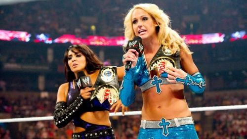Michelle and Layla as co-champions