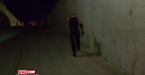 Dean Ambrose walking away after RAW