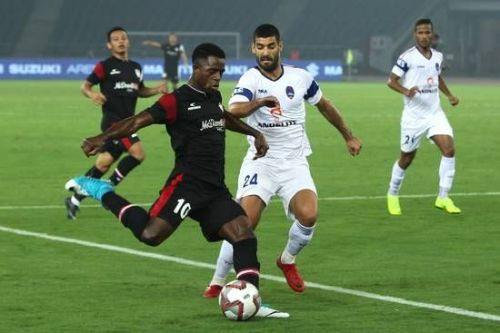 Ogbeche scored his sixth goal of the season today, to secure three points for NEUFC
