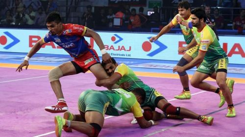 Shrikant Jadhav was the top raider in the match with 17 points.