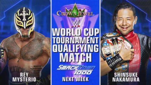 Shinsuke Nakamura vs Rey Mysterio