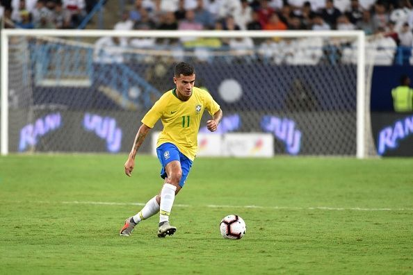 Philippe Coutinho could play in midfield for Brazil