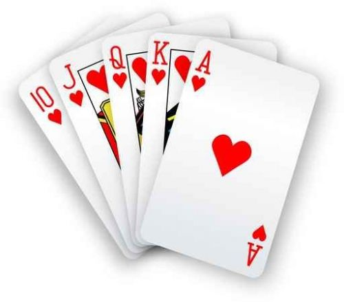 Royal flush, poker