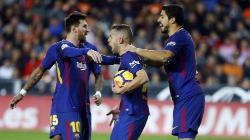 Jordi Alba scored the winner in Valencia-Barcelona game at Mestalla: 2017-18