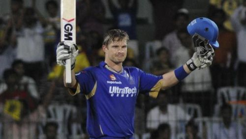 Shane Watson is the only player to have scored two centuries while playing for the Rajasthan Royals