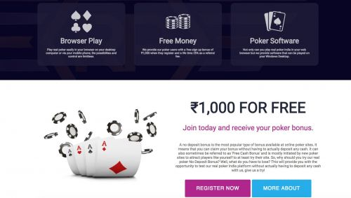 Real Poker India have great offers