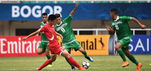 Pak Kwang-Chon in the red jersey scored the solitary goal against Iraq (Image Courtesy: AFC)