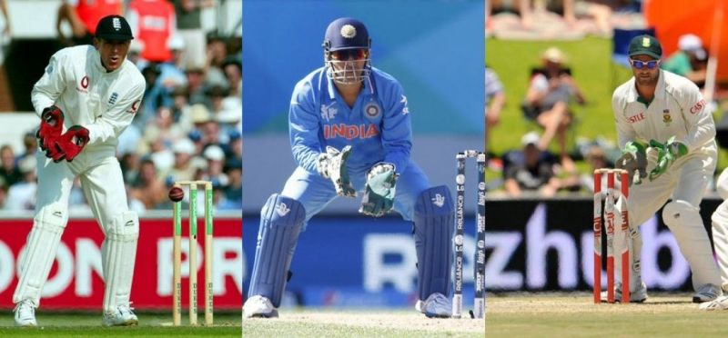 The wicket-keepers of England, India and South Africa