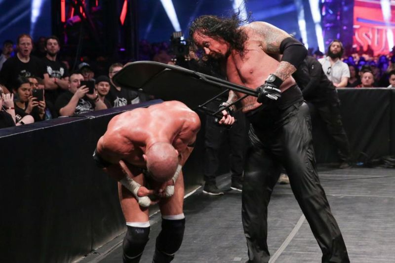 The Undertaker & Triple H faced off in a no disqualification match in the main event of Super Showdown.