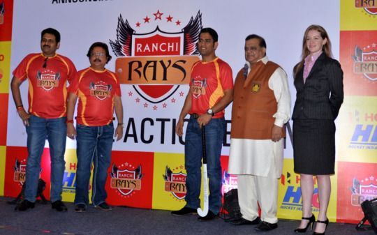 MSD during the launch event of Ranchi Rays