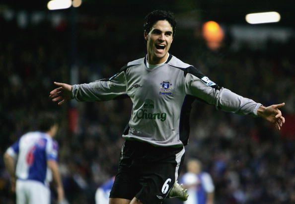 Arteta had the first taste of Premier League football with Everton.