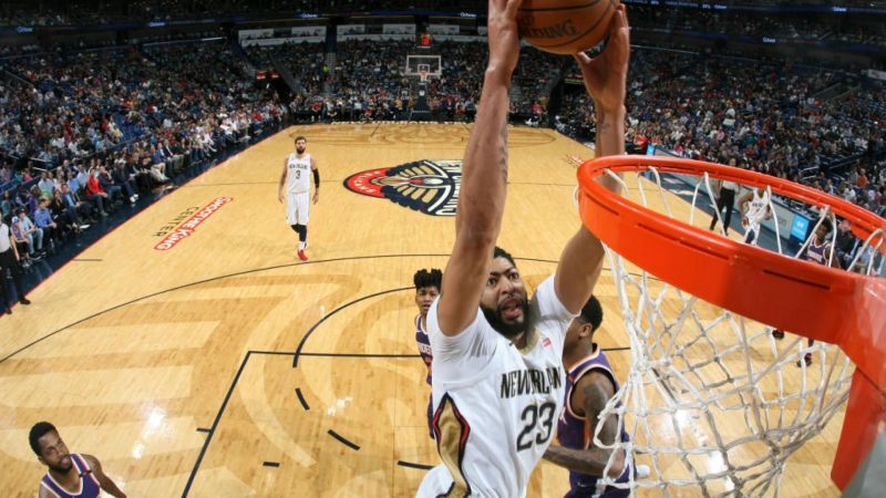 Anthony scored 53 points as the Pelicans beat Suns. Credits: NBA