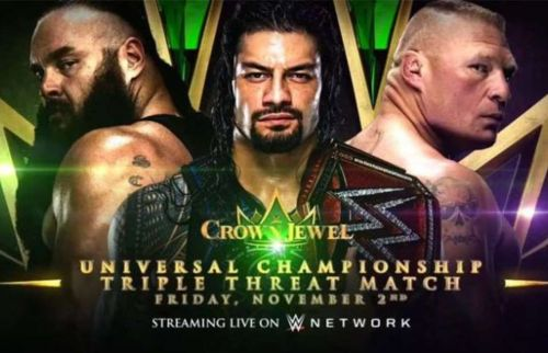What does WWE need to do before The Crown jewel pay per view?