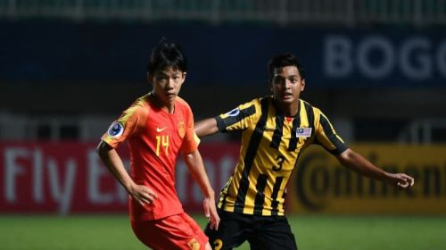 Yang Yilin of China (on the left) in action against Ahmad Tasnim Fitri of Malaysia (Image Courtesy: AFC)
