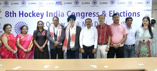 Newly Elected Executive Committee Members of hockey India