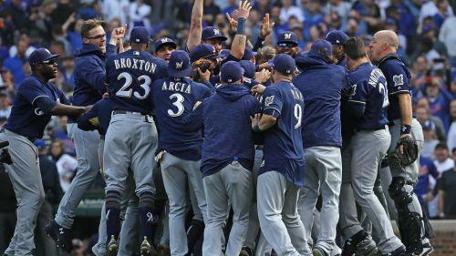 Milwaukee Brewers celebrate