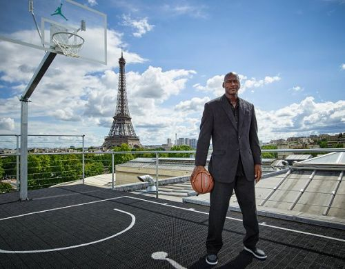 Michael Jordan in Paris to Mark 30 Years of Air Jordan at Palais 23.