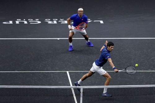 It was a dream partnership of Federer and Djokovic but the pair lost their match at Laver Cup