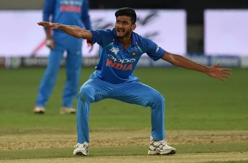 The 20-year-old Khaleel picked up figures of 3-13 in the fourth ODI at Mumbai