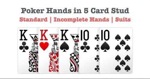 5 card stud hand rules
