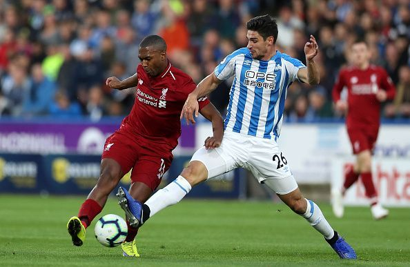 Schindler committing to a tackle, dispossessing Sturridge during a busy evening's work