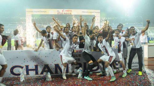 Mohun Bagan celebrating their 2014-15 I-League win