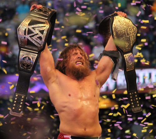 Daniel Bryan with the championships