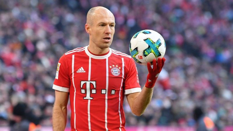 Robben was a Real Madrid player before moving to Bayern Munich