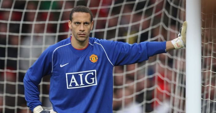 Rio Ferdinand took the gloves in the 2008 FA Cup