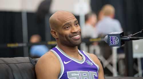 Vince Carter during his single season with the Sacramento Kings
