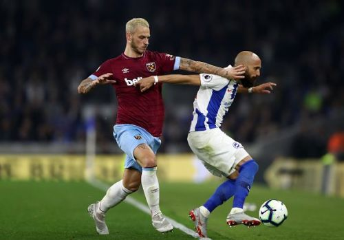 Marko Arnautović in action against Brighton & Hove Albion