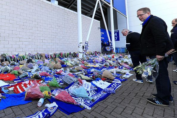 Mourners Pay Tribute After Helicopter Crash at King Power Stadium in Leicester
