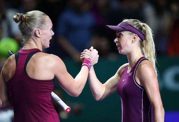 Svitolina defeated Kiki Bertens in a hard-fought semi final