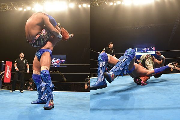 The moment Hiromu Takahashi injured his neck, putting him on the shelf for the forseeable future
