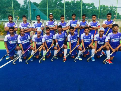 Indian Junior Men's Hockey Team for 8th Sultan of Johor Cup 2018